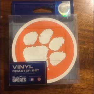 Clemson Tigers set of 4 coasters
